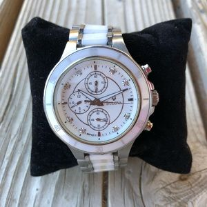 Stunning Bulova White Ceramic Diamond Watch!!